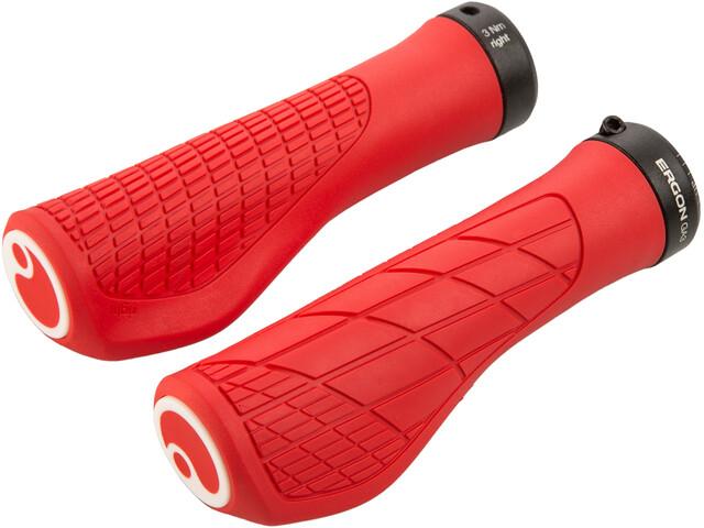 Ergon GA3 Chwyty rowerowe - gripy, red